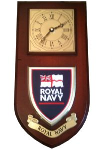 Royal Navy Regimental Wall Plaque Clock